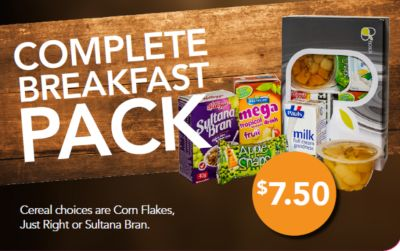 Complete breakfast pack - seven dollars fifty